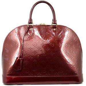 Auth Louis Vuitton Alma Gm Bordeaux #N8042V46